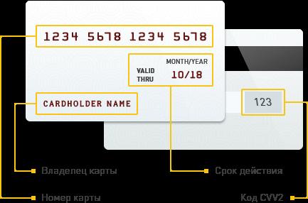 Правила оплаты картой
